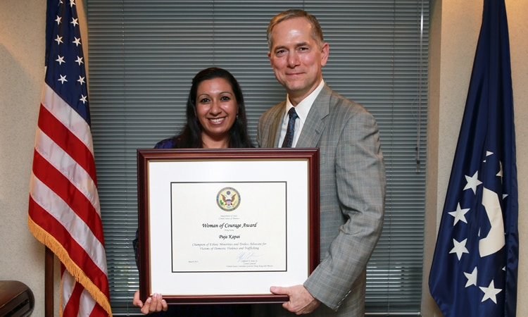 U.S. Consul General Clifford A. Hart and Dr. Puja Kapai (State Dept.)