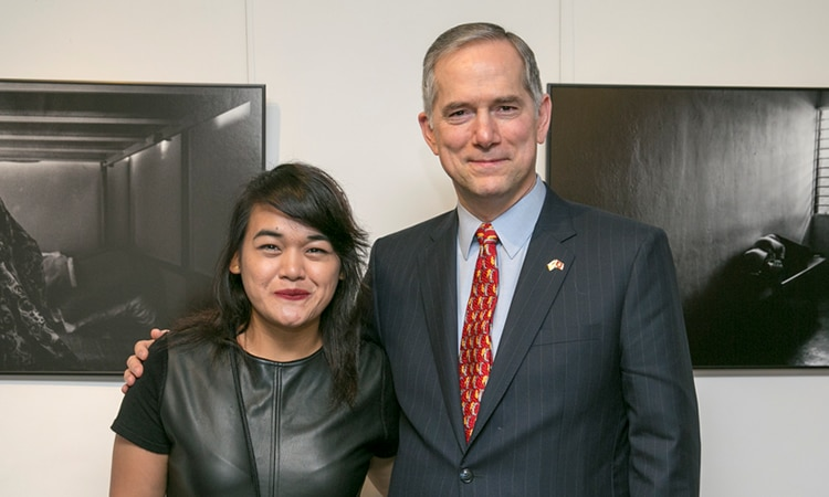 Consul General Hart and Ms. Xyza Bacani (State Dept.)