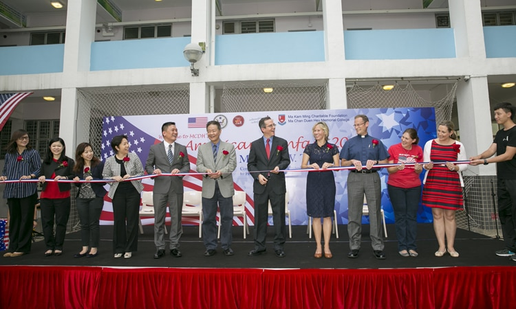 Deputy Consul General Thomas Hodges at American Fun Fair (State Dept.)