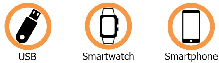 USB, smartwatch and smartphone (State Dept.)
